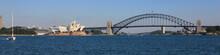 Sydney Harbor Bridge And Opera House.