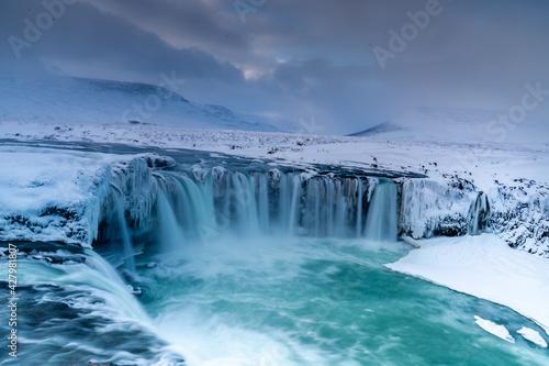 Iceland - Godafoss - Long exposure - fototapety na wymiar