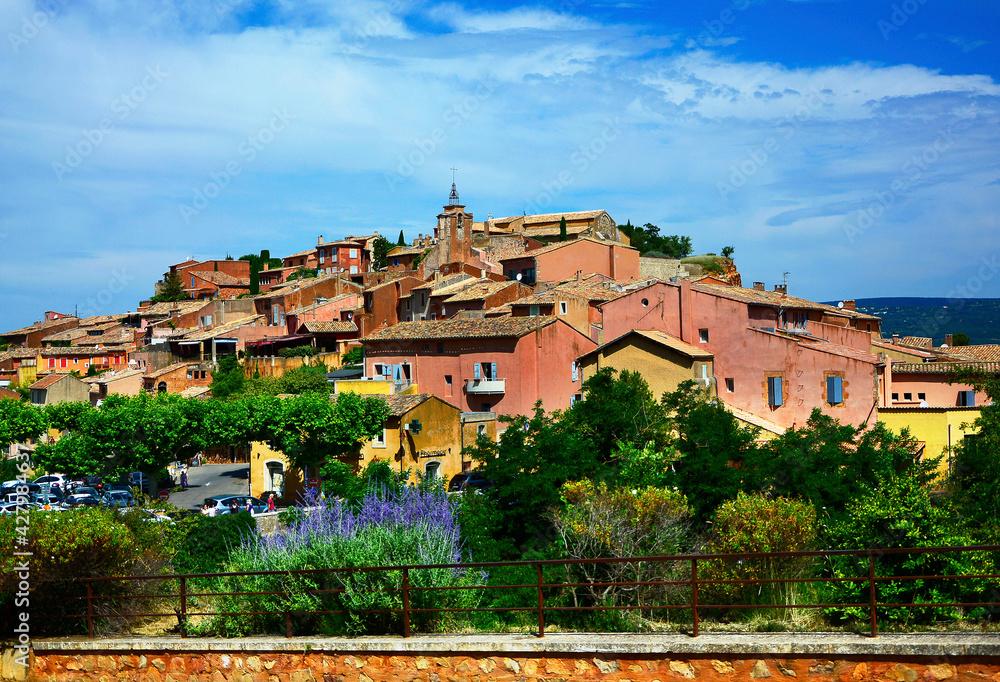 Fototapeta Roussillon - Prowansja - Provance - krajobraz