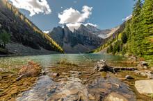 Beautiful Scenery Of The Lake Agnes In Banff National Park, Alberta, Canada
