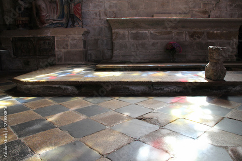 Fototapeta chapel pénity in locronan in brittany (france)