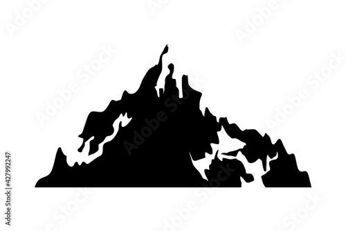Fotografering alps mountain icon