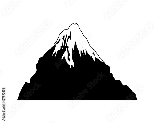 snowy peak mountain Fototapet
