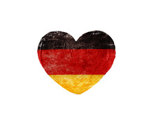 Heart With German National Flag Colors.