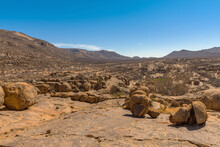Massive Granite Rock Formation In The Erongo Mountains, Namibia