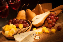 Still Life With Cheese, Fruits And Wine