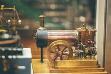 Closeup Shot Of An Old Vintage Steam Engine