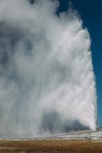 The Old Faithful Geyser In Park National Park