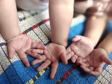 Close-up Of Baby Hands