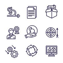 Agile Scrum Process, Development W Icon Set