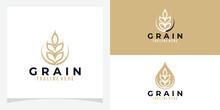 Wheat Grain Logo Icon Vector Isolated