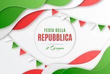 Festa Della Repubblica Illustration Paper Style