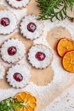 Orange Linzer Cookies