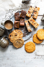 A Variety Of Baked Goods Including Cookies, Brownies And Granola Bars