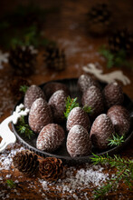 Pine Cone Shaped Chocolates