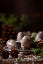 Festive Pine Cone Shaped Chocolates