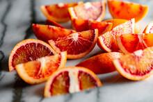 Blood Oranges On Marble
