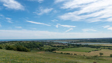 Beautiful Landscape Of Shoreham Bypass-a Major Road In England On A Sunny Day