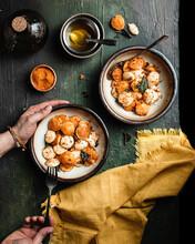 Breakfast Idli Savoury Rice Cake, An Indian Cuisine