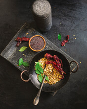 Dry Roasted Indian Spices.