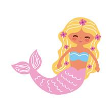 Cute Mermaid Pink Tail