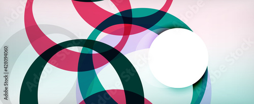 Photo Ring geometric shapes, o letter repetition wallpaper