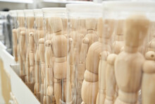 Ikea Business Figures. Extraordinary Team Model. Meeting Mannikin. Wooden People Mall. White Color. Soft Focus