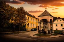 Street In The City Of Spitz In The Austrian Danube Valley Wachau.