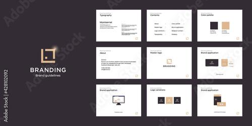 Canvas-taulu Minimalist luxury brand guide template