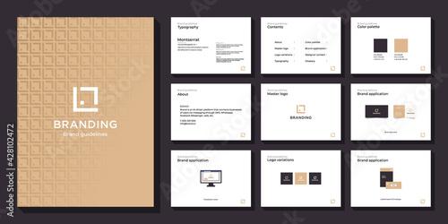 Minimalist luxury brand guide template Fototapet
