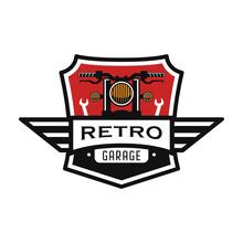 Emblem,Badge Retro Garage Logo Design Template