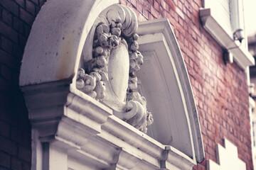 Sculpture on building facade