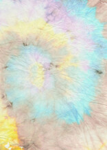 Rainbow Spiral Tie Dye. Circular Die Psychedelic