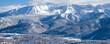 Piękny zimowy widok na panoramę gór Tatry