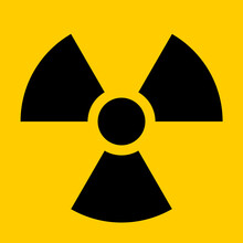 Nuclear Hazard Ionizing Radiation Trefoil Symbol. Vector Image.
