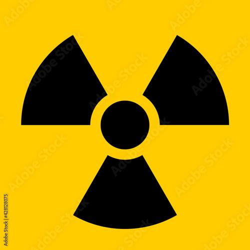 Obraz na plátně Nuclear Hazard Ionizing Radiation Trefoil Symbol. Vector Image.