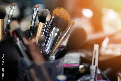 Obraz Professional cosmetic brushes - fototapety do salonu