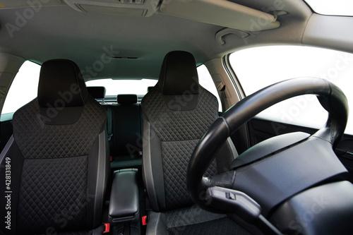 Fotografie, Obraz Empty car front seats