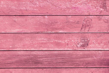 Wooden Background With Pink Painted Planks