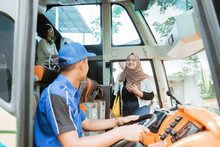 A Female Passenger In A Veil Got On The Bus When She Was Seen By The Driver On Board The Bus