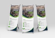 Business Conference Roll-up Banner Design