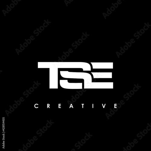 Canvas-taulu TSE Letter Initial Logo Design Template Vector Illustration