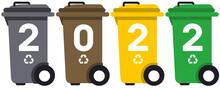 Bonne Année 2022 Poubelles Recyclage