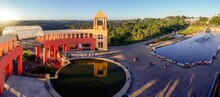 Tangua Park In Curitiba, Brazil. Water Fountain And The Panoramic Observatory