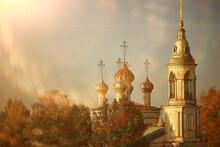 Church Dome Cross Sky, Religion Architecture