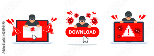 Photo Collection of computer virus detection icons
