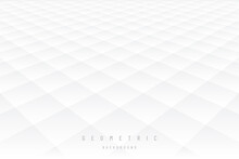 Gray And White Subtle Lattice Pattern Perspective Abstract Background. Modern And Minimal Element. Repeat Geometric Grid Design. You Can Use For Cover Template, Poster, Banner Web, Flyer. EPS10