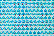 Blue Graphic Floral Pattern
