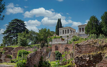 Rome, Italy, The Famous 17th Century Farnese Aviaries Building On The Palatine Hill