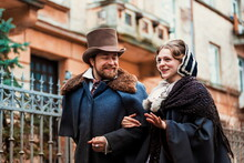Old Victorian Style Fashion Couple